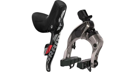 SRAM Red 22 hydraulische Felgenbremse Hinterrad m. DoubleTap Schalt-/Bremsgriff schwarz